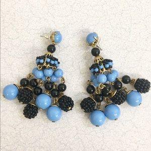 Stunning NWOT J. Crew beaded statement earrings!💙